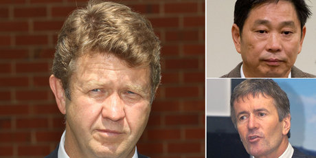 David Cunliffe has issued a warning ahead of any leadership coup. Top: Donghua Liu, centre: Damien O'Connor who granted Liu residency and Chris Carter. Photo / NZ Herald