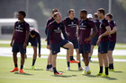 England players train in Brazil during the World Cup. Photo / AP