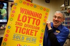 Garry McElwain said both winning Lotto tickets were sold to the same man. Photo/Bevan Conley