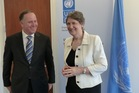 John Key and Helen Clark discussed the situation in Iraq during their meeting in New York today. Photo / NZ Herald