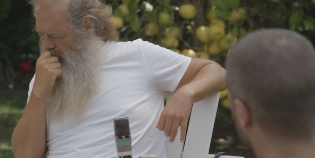 Zane Lowe meets Rick Rubin. Photo/YouTube