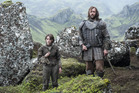 Arya and The Hound meet Brienne of Tarth during the season finale of Game of Thrones.
