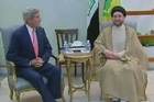 US Secretary of State John Kerry met on Monday with the head of the Islamic Supreme Council of Iraq Ammar al-Hakim in Baghdad.