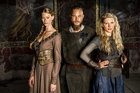 Alyssa Sutherland, Travis Fimmel and Kathryn Winnick star in Lightbox's headline series The Vikings.