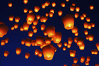 Sky lanterns float above the crowds. Photo / Thinkstock