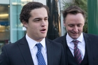 : Suspended St John's College student Lucan Battison (left), 16,  with his lawyer, Jol Bates, arrives at the High Court in Wellington yesterday. Photo/Mark Mitchell