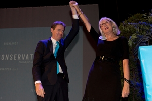 Colin Craig and Christine Rankin. Photo / NZ Herald