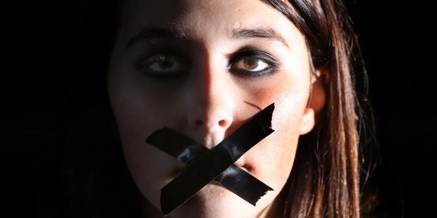 Jessalyn Silvester maintaining her silence. Photo/Stuart Munro