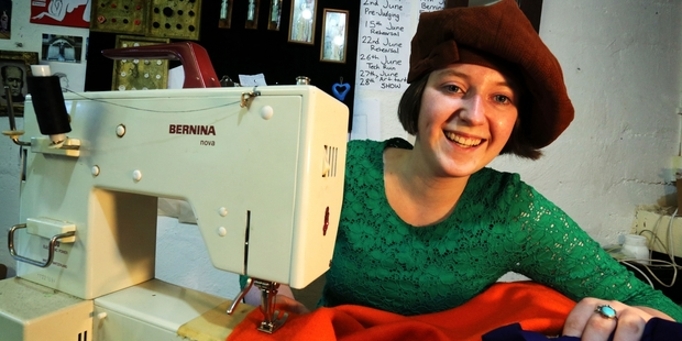 Chloe King dreams of moving from Fieldays to film costume success. Photo/John Stone