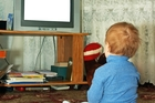 GLUED: Most 2-year-olds in New Zealand watch TV every day.