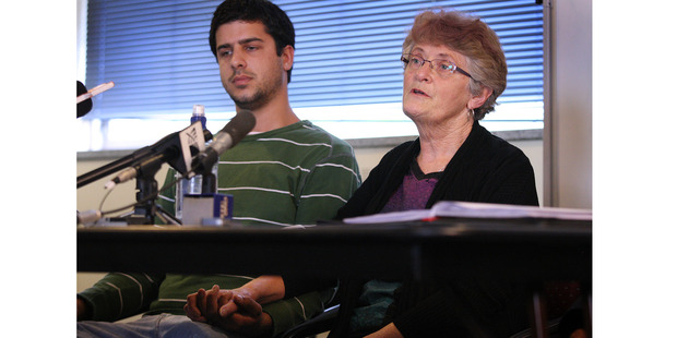 Damian and Lee Hall, son and mother of missing Wanganui man Brett Hall. Photo/File