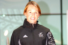 New Zealand Women's Hockey player, Honor Dillon, modelling the 2006 Commonwealth Games teamwear. Photo / NZPA