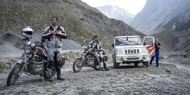 Brothers Colin and Ryan Pyle circumnavigated India on Royal Enfield motorcycles for their show Tough Rides: India. Photo / Supplied