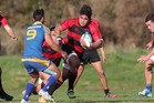 Whakarewarewa prop Siegfried Fisiihoi (with ball) has been picked for the 2014 Steamers squad.