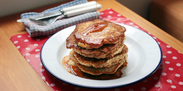 Pancakes don't need any sugar added if you plan to serve with syrup. Photo / Doug Sherring