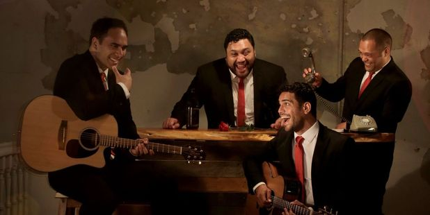 James Tito (left) enjoys rehearsing with the boys in the Modern Maori Quartet.