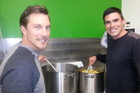 Mosaic Church congregation member Jake McLean and C3 pastor Tamati Cameron are involved in a project that provides a free community meal  at the Arataki Community Centre. Photo/Carmen Hall