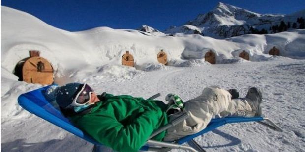 Austria's Iglu Village Kuhtai is a small 'resort' with about 12 igloos, depending on weather conditions.