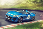 The Jaguar F-Type-based Project 7 concept was unveiled at last year's Goodwood Festival of Speed. Photo / Supplied