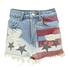 Boohoo Vienna Stars & Stripes Boyfriend Denim Shorts $55.