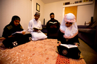 Siraj Akbar prepares for Ramadan with his children (from left) Wafiq, Zafeerah and Zayba Ali. Photo / Dean Purcell