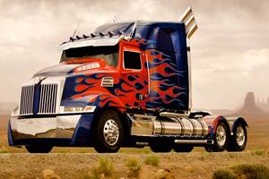 Transformers' Optimus Prime from Transformers: Age of Extinction. Photo / Supplied