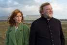 Brendan Gleeson (here with Kelly Reilly) has a commanding presence in Calvary.