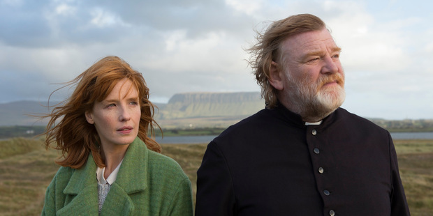 Kelly Reilly and Brendan Gleeson star in Calvary, set in the coastal village in Ireland.
