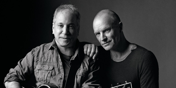 Paul Simon and Sting head to New Zealand in January 2015.