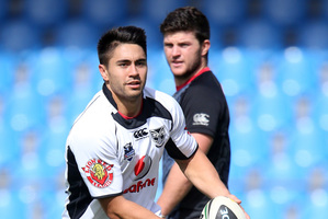 Shaun Johnson (L) and Chad Townsend will be under pressure. Photo / Getty Images