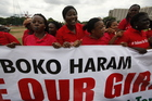 File photo of women during a demonstration calling on the government to rescue 200 kidnapped schoolgirls. Now more than 60 women have been kidnapped from the same area. Photo / AP