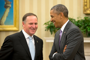US President Barack Obama meets with Prime Minister John Key. Photo / AP