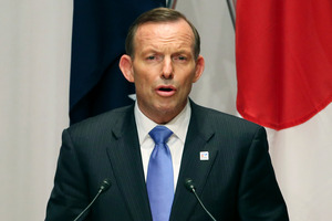 Australian Prime Minister Tony Abbott. Photo / AP