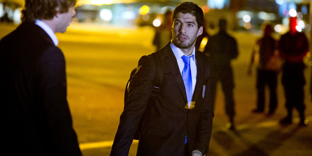 Luis Suarez is even more elusive off the field than on it. Photo / AP