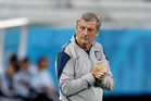 England's manager Roy Hodgson watches his players during a squad training session for the 2014 FIFA World Cup. Photo / AP