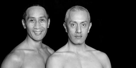Apart from Taane Mete (left) and Tai Royal, the creative team in Okareka Dance Company's Mana Wahine show are all women.