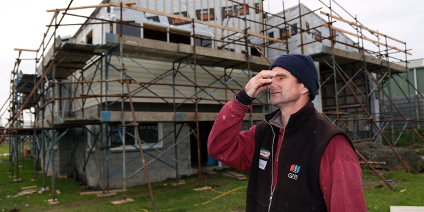 Kevin Walsh says the smell come on the wind to his team's work site. Photo / Stuart Munro