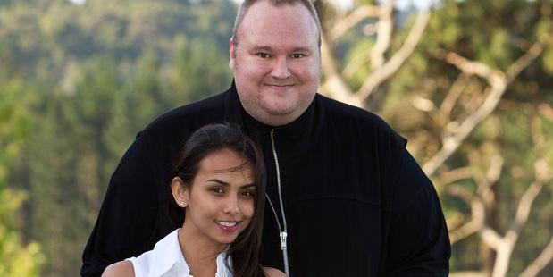 Kim and Mona Dotcom in happier times. Photo / NZ Herald