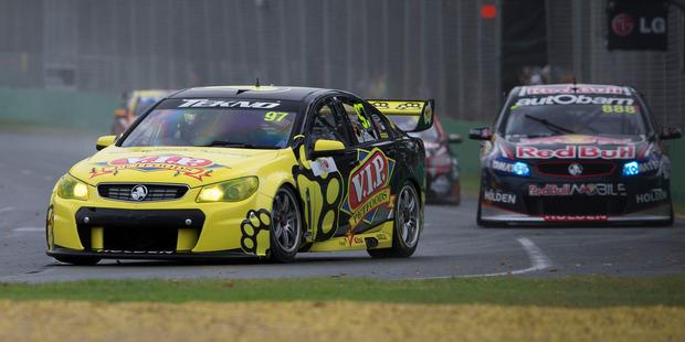 Kiwi Shane Van Gisbergen in the Tekno Motorsports Holden Commodore.  Photo / EDGE PHOTOGRAPHICS