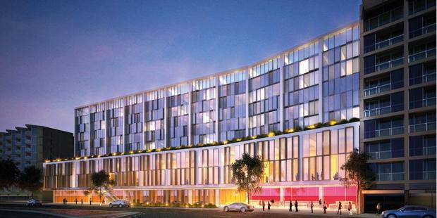 An artist's impression of the convention centre and hotel. Photo / supplied