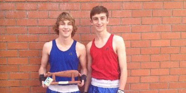 Micaiah Drayton and River O'Brien are promising amateur boxers. Photo/Supplied