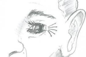 The suspect had a distinctive tattoo around his eye, as seen in this police sketch.