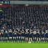 All Blacks during the national anthem, before their match against England. Photo / Brett Phibbs