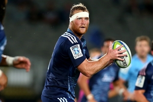 Flanker Luke Braid has been in good form for the Blues and will face the Force in Perth on Saturday. Photo / Getty Images