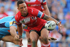 Benji Marshall in action for the Dragons. Photo /Getty Images