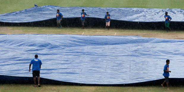 Bad weather is forecast for the remainder of the third test between New Zealand and the West Indies in Barbados. Photo / AP