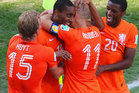 The Netherlands celebrate upon hearing they were ranked in the top spot by the Herald. Photo / Getty