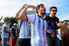 Argentina fans were good-natured for their team's match against Nigeria in Porto Alegre though authorities were taking precautions. Photo / AP