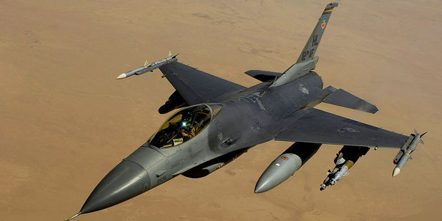 An F-16 Fighting Falcon aircraft. Iraqi PM Nouri al-Maliki says the US is delaying the delivery of 36 of F-16 aircraft. Photo / Wikipedia - US Air Force