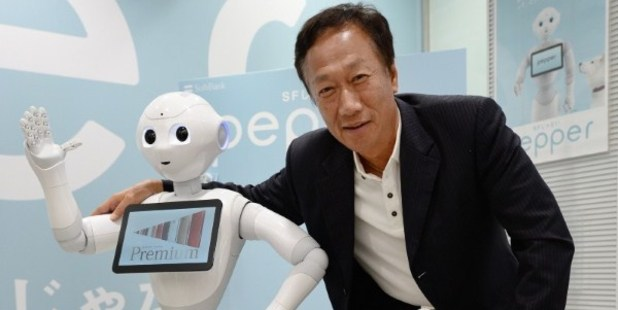 Terry Gou, chairman and CEO of key iPhone manufacturer, Foxconn Technology Group, plans to boost investment in robotics. Photo / AFP